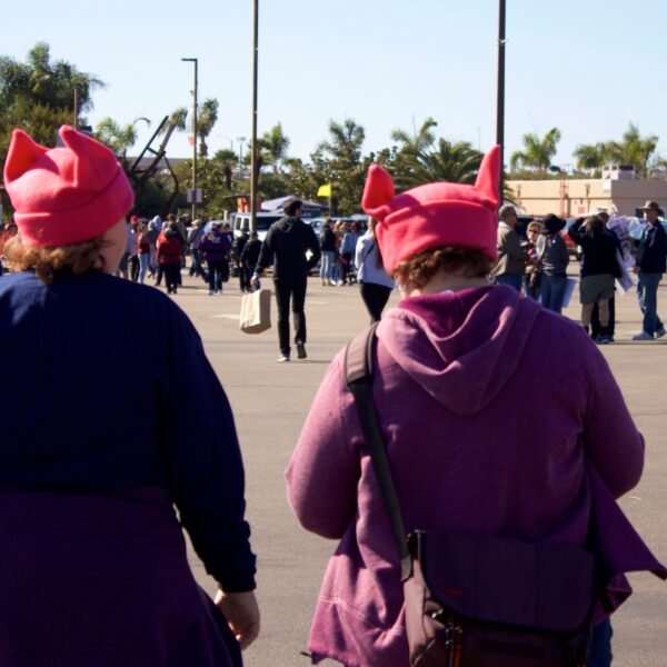 women-wearing-pussy-hats-at-womens-march