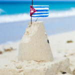 cuban-sandcastle-with-the-country-flag-in-cuba