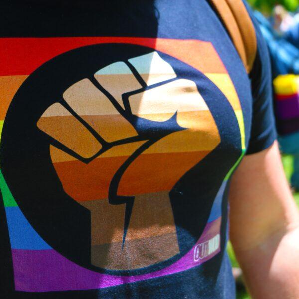 black-power-fist-on-gay-pride-t-shirt