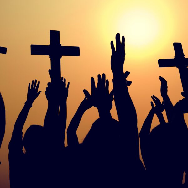 cross-religion-catholic-christian-community-concep